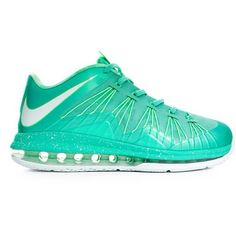 best service 0d7fd 5f674 Aqua LeBron X Low New Nike Shoes, Nike Shoes For Sale, Nike Free Shoes