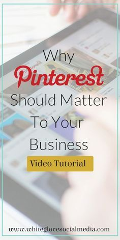 There are over 1 million businesses on Pinterest! If you're ignoring Pinterest then you're certainly losing traffic and sales. In this video tutorial you will learn how it compares to Facebook & Twitter, and more! Click here to learn more at http://www.whiteglovesocialmedia.com/Pinterest-Expert-Why-Pinterest-Matters/ | Pinterest Expert Tips and Tricks for Business