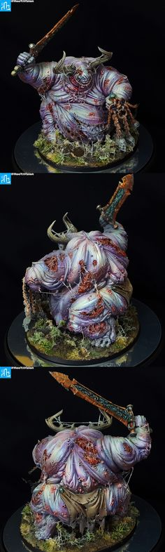 Great Unclean One Warhammer Models, Warhammer Fantasy, Chaos Daemons, Fantasy Model, Space Marine, Paint Schemes, Hobbies And Crafts, Game Workshop, Dioramas