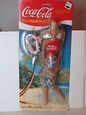 "1986 BBI TOYS COCA COLA 11 1/2"" FASHION DOLL NEW & UN-OPENED - FREE US SHIPPING!"