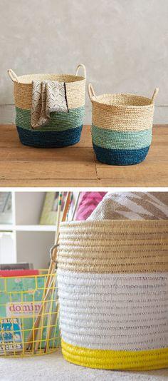 Anthropologie DIY: make the handmade grass baskets for less