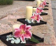 Mirror tile' candle gold vein flower seashells or sandollars