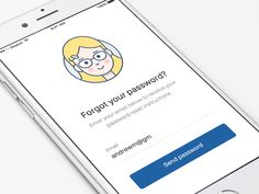 A cute little animation I create for the 'forgot your password' screen. Keen to hear your thoughts and don't forget to click L
