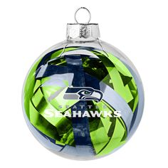 Display your Seattle Seahawks pride on your tree with this glistening ornament! Proudly rep the Seattle Seahawks with this Large Tinsel Ball ornament!