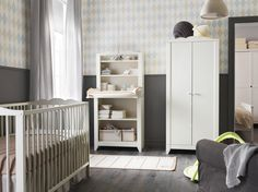 IKEA nursery furniture - Your baby's room can be a quiet refuge, a place to relax and a nurse or a stimulating place to play Ikea Baby Room, Ikea Baby Nursery, White Nursery, Nursery Room, Kids Bedroom, Ikea Nursery Furniture, Nursery Furniture Sets, Furniture Decor, Find Furniture