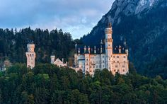 Neuschwanstein Castle: This gravity-defying cliffside castle, which contains two immense banquet halls and an artificial indoor cave, was originally commissioned in the mid-1800s by King Ludwig II to represent the ideal (or, at least, his ideal) medieval fairytale castle.