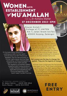''Women and the Establishment of Mu'amalah' Talk by Humaira Shahid