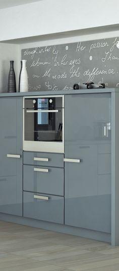 küchenzeile elektrogeräte verstecken ausziehen hochglanz grau - küche hochglanz grau