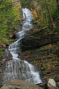 vermont waterfalls - Google Search Lye Brook Falls  Manchester , Bennington County, VT , USA