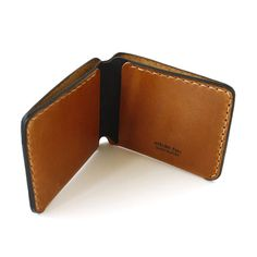Bifold Leather Wallet minimal slim wallet for cash by AtelierPall