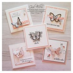 Blue Rose Paper Treasures: Artisan Butterfly Notecards Paper Crafts - The Ultimate Craft Ideas Paper Stampin Up Karten, Stamping Up Cards, Small Cards, Homemade Cards, Note Cards, Cardmaking, Origami, Birthday Cards, Greeting Cards