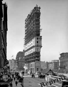 Photograph Vintage New York Times Square Building Construction 1903 8x10 in Collectables, Photographic Images, Antique (Pre-1940) | eBay