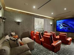 Eclectic Home Theater - Find more amazing designs on Zillow Digs!