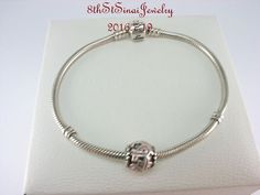 Pandora Sterling Bracelet 590702HV & Breast Cancer Ribbon Bead Charm 790755EN24 #Pandora #European