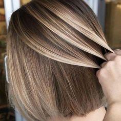 17 Stunning Examples of Balayage Dark Hair Color - Style My Hairs Ash Blonde Highlights, Balayage Blond, Light Ash Blonde, Hair Blond, Dark Hair, Brown Hair, Ash Brown, Trendy Hairstyles, Straight Hairstyles