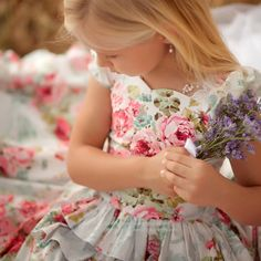 Cute Flower Girl Dress by Vintage Precious.