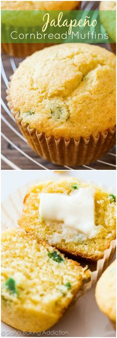 Honey Jalapeno Cornbread Muffins-- sweet, a little spicy, exploding with flavor!