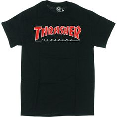 d61b4a87d105 Thrasher Magazine Outlined Black T-Shirt - Medium