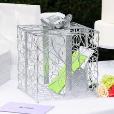 L'urne de mariage cadeau (blanc, or, argent, noir)