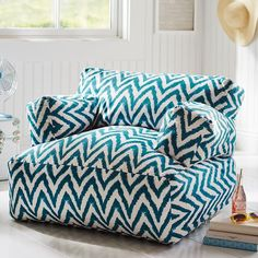 Dark Pool Tie Dye Chevron Eco Lounger | PBteen double $239
