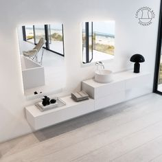 The SQ2 series is designed by Danish award-winning designer Mikal Harrsen. SQ2 is a part of our exclusive series Scandinavian Suite, the stylish 6mm thin edges make it light and elegant to look at. SQ2 is designed as a module system which means that you can put the cabinets together in any installation that you want, and you can choose where to place the basin or if you just want a countertop. Three layers of PU lacquered cabinet and 100% composite top makes it perfect for bathrooms. Bath Cabinets, Danish Design, Copenhagen, Double Vanity, Basin, Countertops, Scandinavian, Bathrooms, Layers