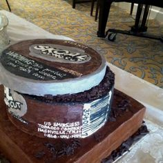 Skoal Chewing Tobacco Grooms Cake -but for mine it would have to be copenhagen... lol