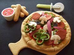 Pizza de fieltro