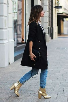 f2f1b8afb021b0 How To Wear Metallic Shoe Trend This Winter