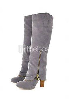 Tall Grey Boots! So cute.