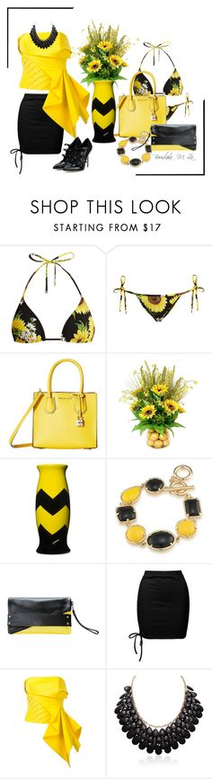 """""""Inspired by Sunflowers 🌻"""" by borislava-zo3bi ❤ liked on Polyvore featuring Dolce&Gabbana, MICHAEL Michael Kors, Frontgate, Corsi Design Factory, 1st & Gorgeous by Carolee, MOFE, Sans Souci, Rubin Singer, Adoriana and dolceandgabbana"""