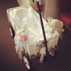 Flower girl wagon miss Gracynn got pulled down the isle in!