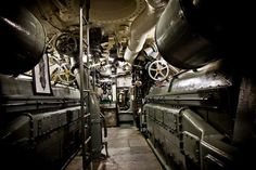 U.S. Submarine engine room WWII