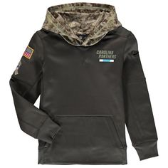 c8600f11d Youth Carolina Panthers Nike Olive Salute to Service Pullover Hoodie