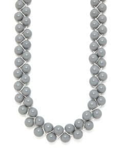 Silver & Grey Marble Braided Necklace