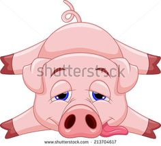 Cute+Cartoon+Pigs | four cute cartoon pigs. vector...