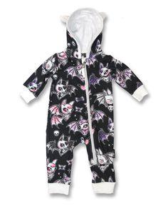 Six Bunnies Baby CUTE BATS Playsuit.Tattoo,Biker,Custom,Pin Up Clothing Style