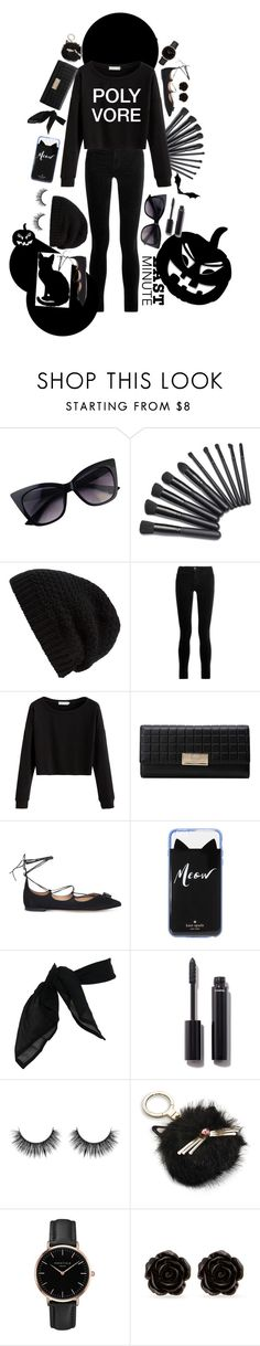 """""""#polyvore #lastminutehalloweencostume #lastminute #halloween #polyvoreapp #polyvore"""" by luvchanel ❤ liked on Polyvore featuring Rick Owens, J Brand, Salvatore Ferragamo, Kate Spade, TC Fine Intimates, Chanel, Topshop and Erica Lyons"""