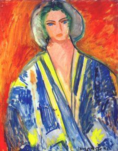 The Blue Gandoura, 1951, by Henri Matisse