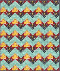 Thankful Thursday   Chevron Quilt by Vanessa Fromm of Fabric Confetti for Camelot Fabrics   What's Cookin' by Allison Cole Collection