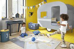 Kinderschreibtisch mit 2 schubladen blau mit fußballtor kids