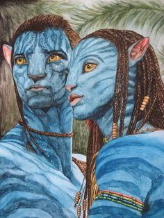 Jake und Neytiri aus dem Film Avatar - Jutta Bachmann