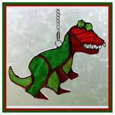 Dinosaur T Rex Suncatcher Stained Glass Handmade Roar £12.00