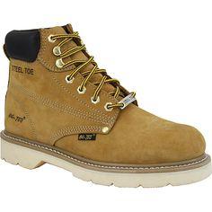 AdTec Men's 1982 6 inch Steel Toe Nubuck Hiker Boots (Tan- W)