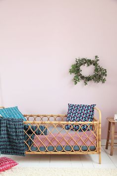 Vintage rattan bed from atelierdupetitparc.fr Photo A. Lecuyer