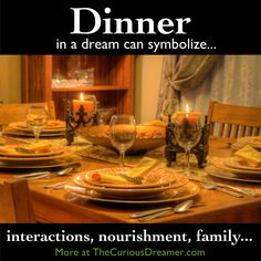 dinner table dream meaning