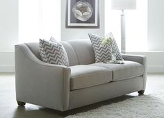 Cindy Crawford Home Madison Place Slate 2 Pc Sleeper Sectional Reversible chaise with Queen