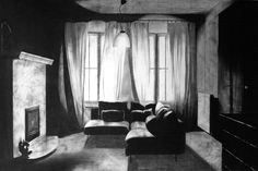 Joachim Devillé is a Belgian artist who mostly draws detailed charcoal pictures. His interior series represents classically composed scenes with a highly contrast between the framed windows, the natural light sources and the semi-obscure empty rooms. Some of the settings are invented, some are...