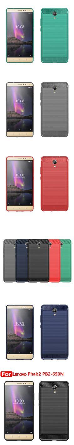 "Lenovo PHAB2 PB2-650N PB2-650M PB2-650Y 6.4"" Case Luxury Carbon Fiber Drawing Pattern Back Cover TPU Ultra-thin Phone Coque Case"