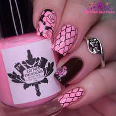 Polish and Paws: Nail Art ~ Brown and Pink #WhenColorsCollide