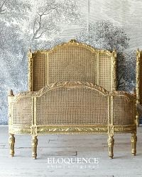 Eloquence One of a Kind Vintage French Gilt Cane Louis XVI Style Twin Bed Pair - Furniture French Decor, French Country Decorating, French Furniture, Vintage Furniture, Modern Furniture, Furniture Design, Antique Beds, Antique Clocks, French Bed